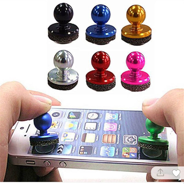 top popular Mini Joystick IT mini Mobile fling joystick Arcade Game Stick Controller for iPad & Android Tablets PC fast free shipping by DHL 2019