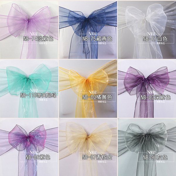 Wedding dressing banquet chair decoration Eugen glass yarn streamer wedding supplies chair covers free shipping