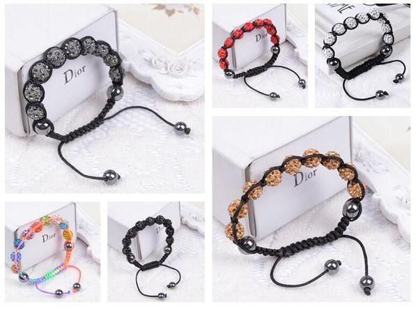 New arrival Fashion crystal diamond ball ornaments fragrant bracelet bracelet FB290 mix order 20 pieces a lot Charm Bracelets
