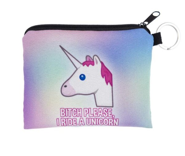 New Unicorn Cosmetic Bags Kids Cartoon Purse Cartoon Printing Necessary for Travel Storage Bag 11 p