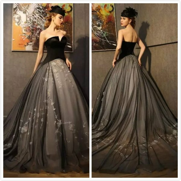 Black Corset Wedding Dresses 2018