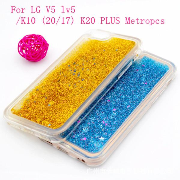 For LG V5 K10 (2017) K20 Plus M250N X400 V20 K3 2017 love star Quicksand Rhinestone Case Glitter Transparent Liquid TPU cover