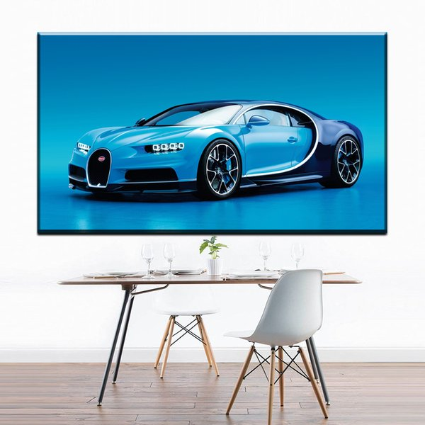 ZZ1299 modern decorative canvas art cool blue sports car canvas prints oil art painting canvas pictures for livingroom wall art