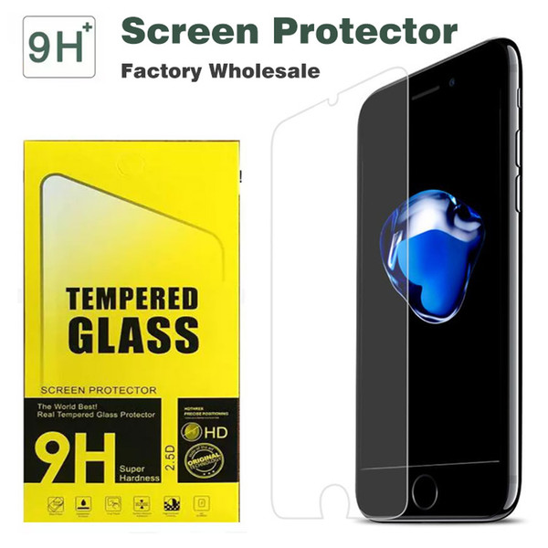 High Quality 9H Hardness Tempered Glass For iPhone 7 Plus HD Screen Protector 2.5D For iphone 6 6s Plus LG G5