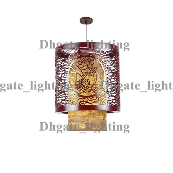 classic chinese style wooden pendant lamp vintage dining room