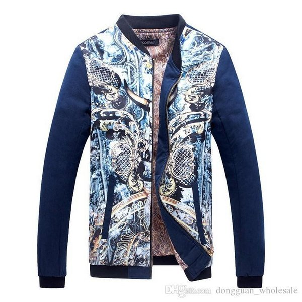 Nice New Men€S Floral Print Jacket Stand Collar Flower Jacket Men Outdoor  Mens Jacket Long Sleeve Large Size 5XL,PA511 Outfit Coats Fall Coats Men