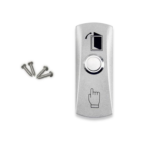 Vente en gros - Livraison gratuite de haute qualité en acier inoxydable commutateur de déverrouillage de porte bouton de sortie d'urgence clés d'argent pour le système de contrôle d'accès-LH