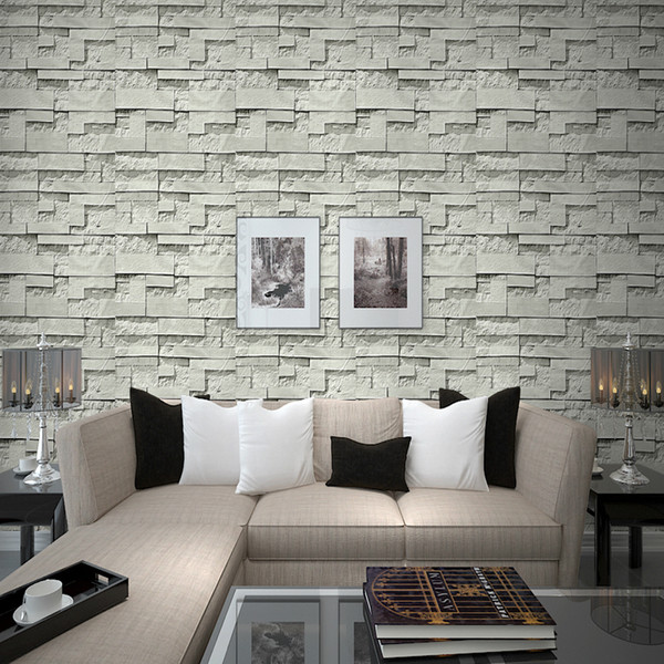 Thickening 3 D Self Sticky Wallpaper Wall Paper Brick Restoring Ancient Ways Is The Sitting Room