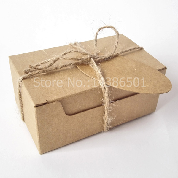 Wholesales rectangle gift wrapping kraft paper box with tags hemp wholesales 50pcs rectangle gift wrapping kraft paper box with tags hemp rope paper soap box negle Choice Image