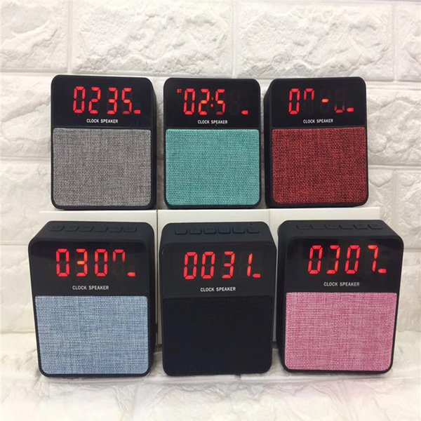 High-end Quality Wireless Bluetooth Speaker T1 Music Player Outdoor Speakers, With Alarm Cock Display, The Best Sound Quality, Subwoofer