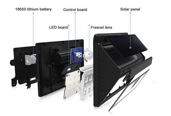 Solar Power 45 LED Solar Außenleuchten Garten Hof Wandweg Zaun Dachrinne Lampe Licht Treppenbeleuchtung Hausdekorationen