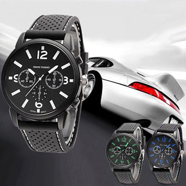 DHL/EMS express Fashion Men's Black Stainless Steel Luxury Sport Analog Quartz Wrist Watch