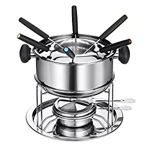 cheese fondue chocolate hotpot cooker liquid stove set Chafing Dish pots heater serving stand stainless holder lid Buffet pan server Warmer