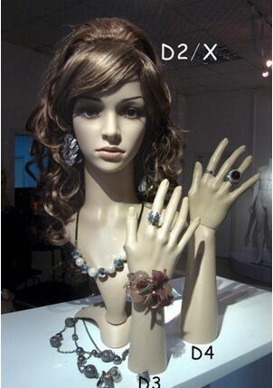 exhibición al por mayor de la peluca Soporte femenino del maniquí de la joyería, sombrero de la cabeza de la peluca del pelo, cabezas del maniquí para la exhibición de la venta, maniquí masculino, M00491
