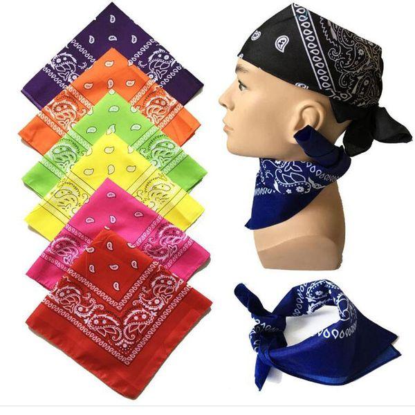 Christmas Gifts for Boyfriend 100% Cotton Paisley Cowboy Bandanas Hip Hop Handkerchief Double Sided Printed Square Multicolors Muffler