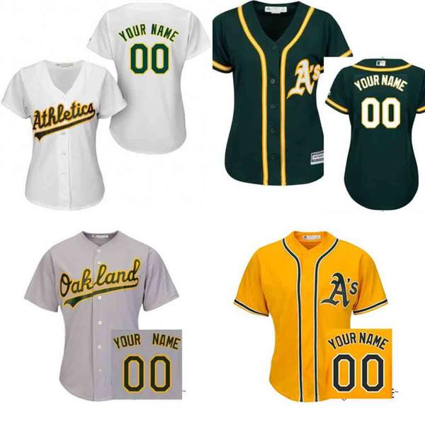 8e763b73f ... Throwback New free shipping custom women Oakland Athletics customized  new blank cool base jersey stitched size s 2xl Men ...