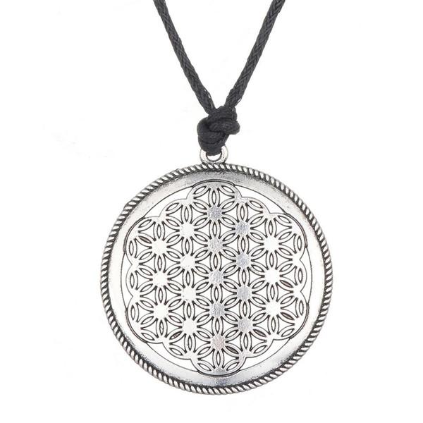 Acheter Mythe Amour Noeud Fleur De Vie Style égyptien Mandala Corde Collierlink Collier Pour Hommes Et Femmes Livraison Gratuite De 097 Du