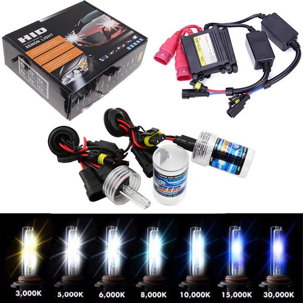 35W 55W 12V HID Xenon Conversion KIT Headlights Free Canbus H1 H3 H7 3000/4300k/6000/8000/10000K/12000K Lighting Slim Ballast KIT Bulbs Set
