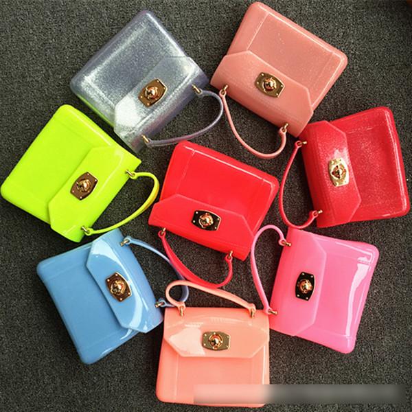New Gel Princess Bag Sacchetti di scuola per bambini Jelly Package Bambini piccoli Messenger Messenger da viaggio Borse a tracolla per asili neonate A7104
