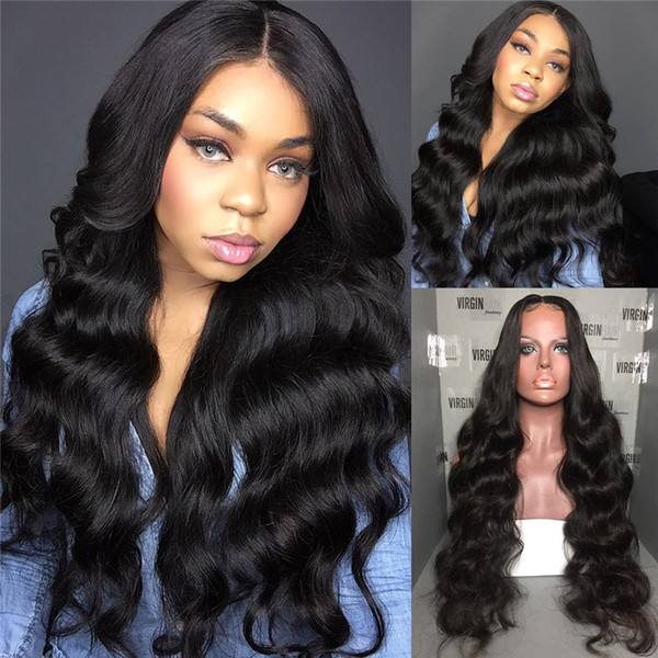 Body Wave Brazilian Virgin Hair Full Lace Human Hair Wigs For Black Women 8-26 Inch Natural Hairline
