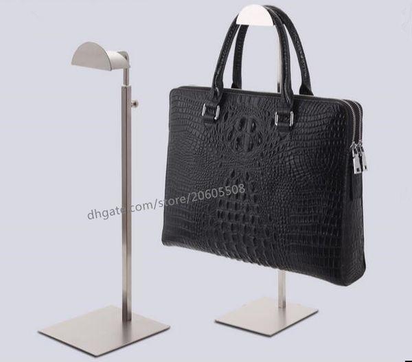 Arbeiten Sie hochwertige stainess Stahlhandtaschenausstellungsstandperücke-Geldbeutelbeutelanzeigenhalterregalregal justierbare Kleiderbügelhaken um Freies Verschiffen