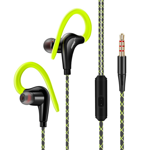 Fonge S760 Ear Hook Sport Headphones Bass Stereo Sport Running Earbud Earphone 3.5mm Jack Headset With Microphone Handsfree