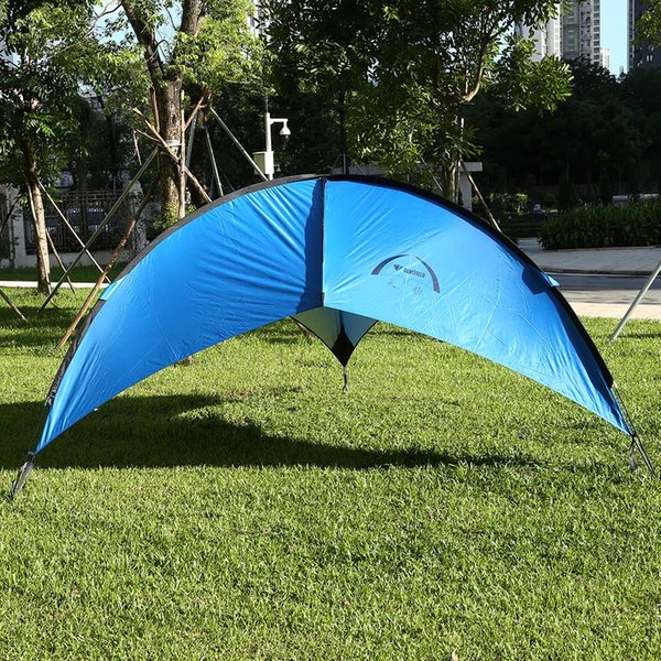 Wholesale- Bluefield Beach Canopy Tent Sun Shade Patio Cabana Outdoor Camping Picnic Table Tent Foldable and Portable for Hiking