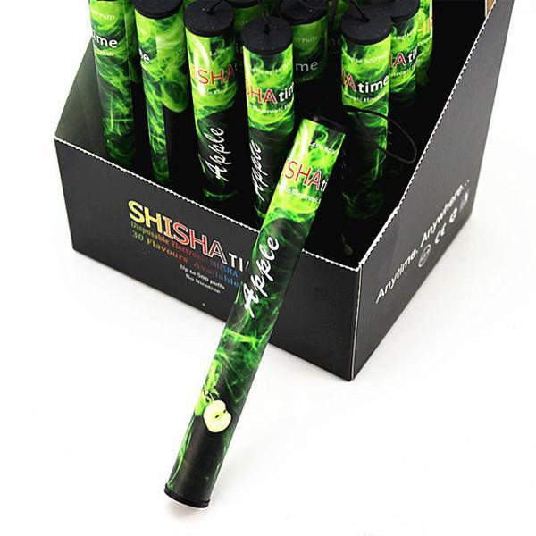 Wholesale ShiSha Time E Hookah 500 Puffs Pipe Pen Electronic Cigarette Stick Sticks Shisha Hookah disposable e