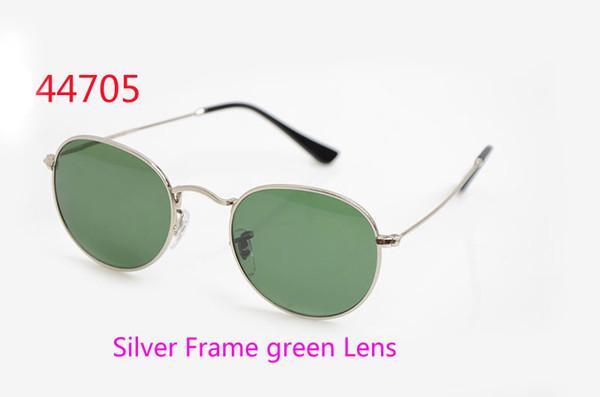Silver Frame Lens verde