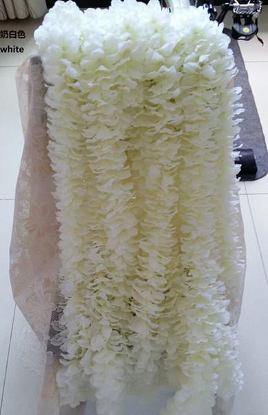 100 шт./лот 39 дюймов искусственный белый Cattleya орхидеи строки свадьба Шелковый цветок цветочная композиция свадебные реквизит поставки