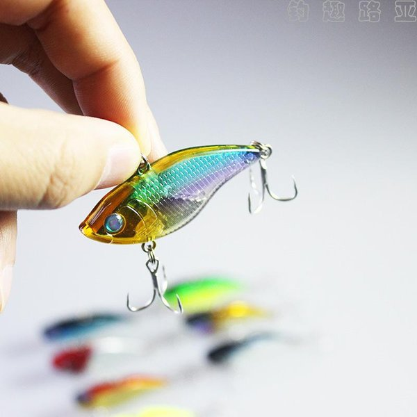 New Fast Trembling VIB Fishing lures 5cm 14.5g 3D Eyes Full sinking Wobbler bait ABS Plastic Fishing Crankbaits