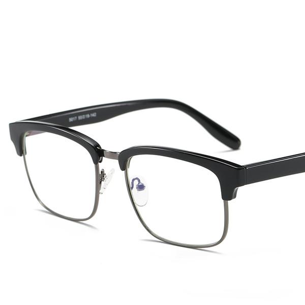 Wholesale-  TR90 Anti Blue Ray Clear Lens Fake Glasses Protection Eyewear Titanium Frame Reading Computer Glasses For Women Men