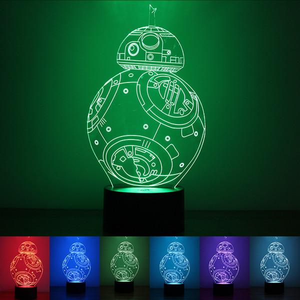 Kreatives Geschenk 3D führte Lampe bunte Nachtlichter 7 Farbwechselbares helles magisches Ballon USB-Entwurfs-Nachtlichter