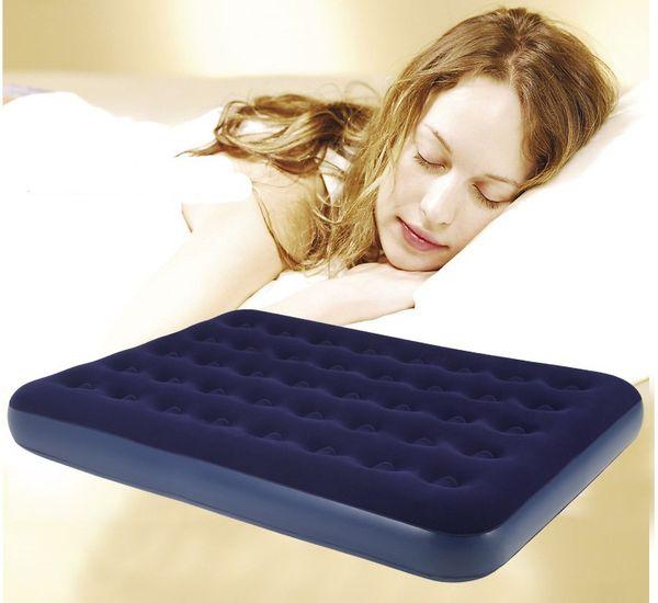 Al por mayor-buena calidad 137 * 191 * 22cm 2 persona doble tamaño del colchón de aire inflable cama, cama de aire, colchón de camping