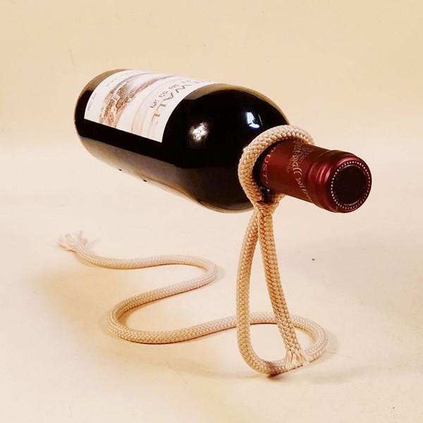 European Stlye Practical Modern Dangling Stents Red Wine Bottle Holder  Hanger Rack Support Bracket Bar Decoration
