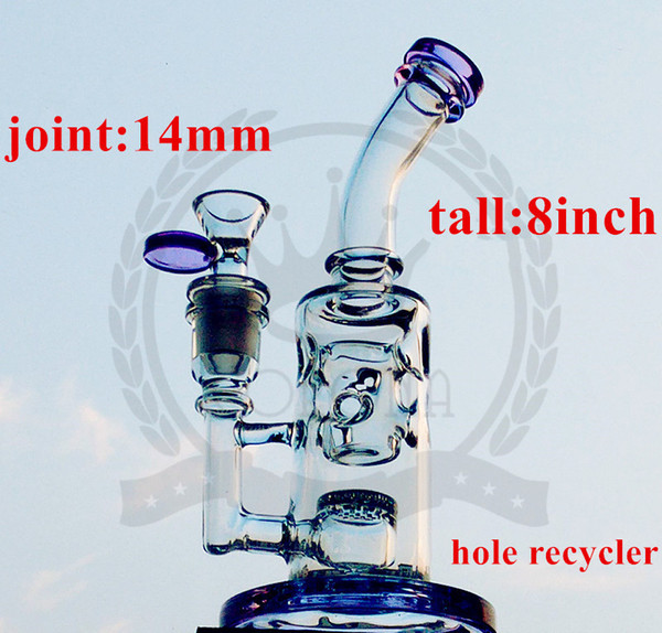 Corona Titanium Nail Glass Pipe Glass Bongs Tall FC Klein bong FC water Torus bong 5mm Thick tyre perc recycler oil rigs glass water pipe