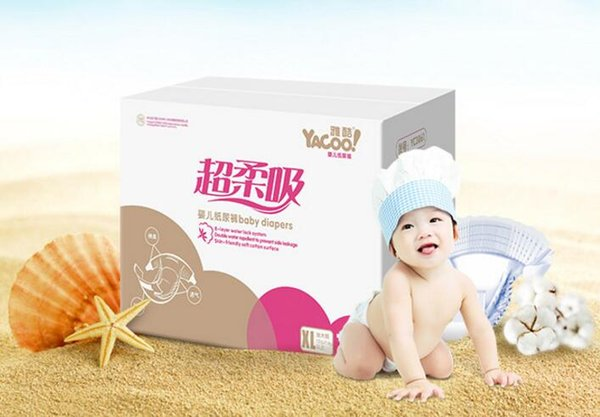 Lowest Price 2017 Factory sale Baby Training Diapers Economy Pack Three-demensional leakproof locks in urine Ultra-Thin and soft W17JS385