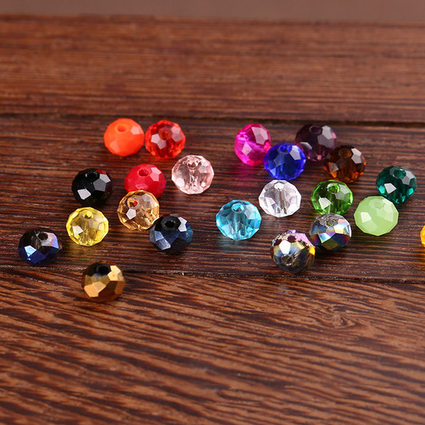 4.5*6mm Crystal Round Beads Loose Glass Ball Beads for Bracelet Necklace Accessories Jewelry Making DIY