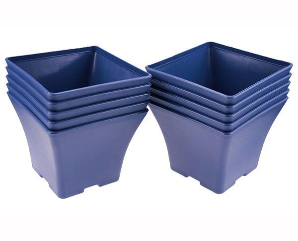 Wholesale 50PCS MOQ Blue Charming Spain Basin Square Flower Pot Bonsai Nursery Planter Lithops Grow Pots for Home Garden Table Dercoration
