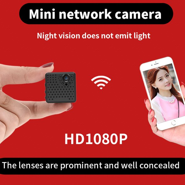 Night Vision Wifi Network Micro Camera with Prominent Lens 1080P Mini Wireless Baby Monitor Home Security Camera with Motion Detection