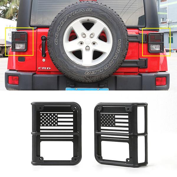 Feux Arrière Lumière Gardes En Métal Noir Auto Extérieur Accessoires Haute Qualité Fit Pour Jeep Wrangler 2007-2017