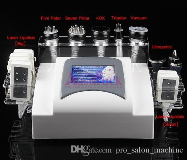 RF fat reduction Vacuum Cavitation Ultrasonic skin lifting Laser Lipolysis EU tax free multifunction Slimming machine