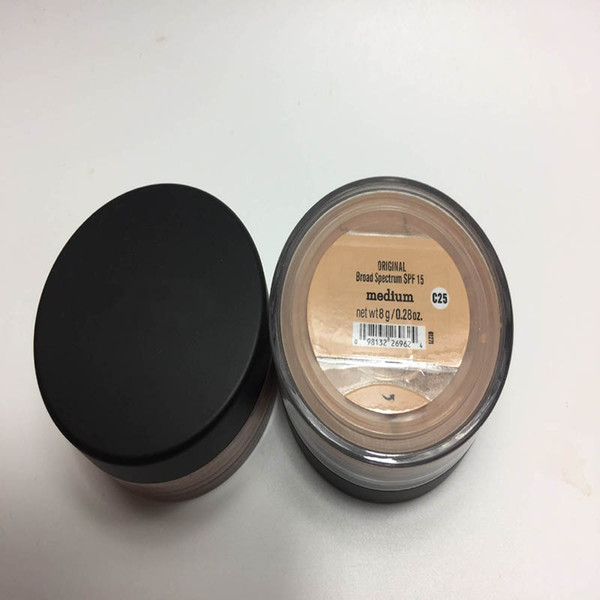 top popular HOT Minerals Foundation loose powder 8g C10 fair 8g N10 fairly light 8g medium C25 8g medium beige N20 9g mineral veil  8g Golden 2021