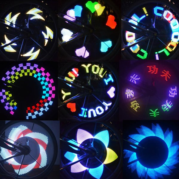 New Ultra bright Bike Light Colorful Rainbow LED Wheel Signal Lights Lamp for Bikes bicycles 2017