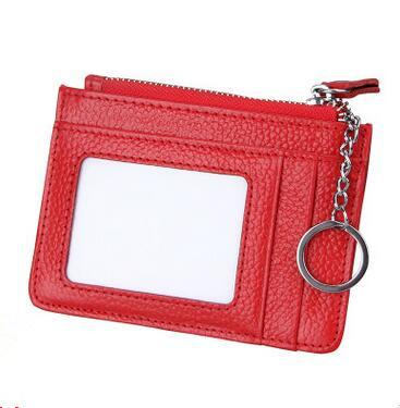 wholesale RFID Business Card Holder Genuine Leather Wallet Men Women Anti Magnetic Anti Scan Bank Credit Card Holder Thin