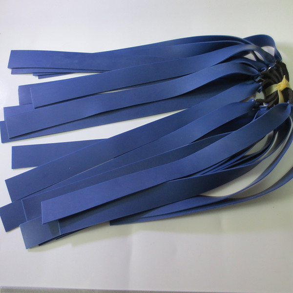 10pieces 1mm blue Latex Replacement Flat Rubber Band Tube for Outdoor Hunting Slingshot Catapult Rubber Slingshot Sinews Bands