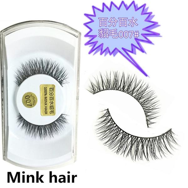 100pcs 15 styles Great Quality 100% Real Mink Natural Thick False Fake Eyelashes Eye Lashes Makeup Extension Beauty Tools