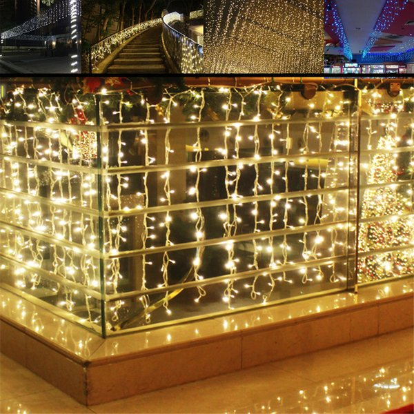 Wholesale 4m 96 Led Icicle Curtain String Light Patio Door Led Christmas  Lights Outdoor Window