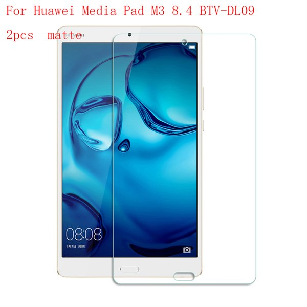 Wholesale- Matte Tablet LCD film Screen Protector For Huawei Media Pad M3 8.4 Reinforced Protection Ultra thin Film 2pcs in 1 package