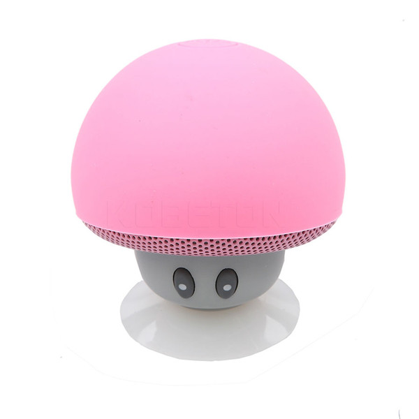 Wholesale- Wireless Bluetooth Mini Speaker Mushroom Waterproof Silicon Suction Handfree Holder Music Player for Iphone 6 6S Android PC